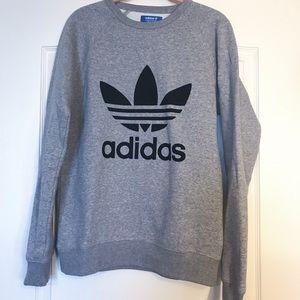 ADIDAS // grey trefoil sweatshirt [NEW w/o tags]